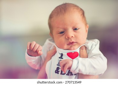 portrait of two months old baby boy