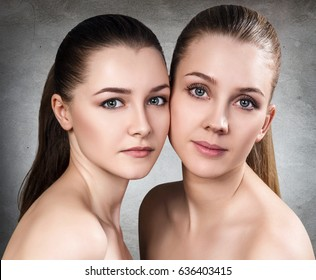 Portrait of two sensual young women.