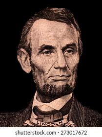 Portrait of  U.S. president Abraham Lincoln