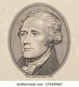 Portrait of  U.S. president Alexander Hamilton