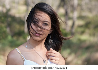 Portrait of a very attractive young asian woman