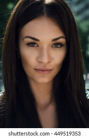 Portrait of a very beautiful girl. Model. Beautiful eyes.
