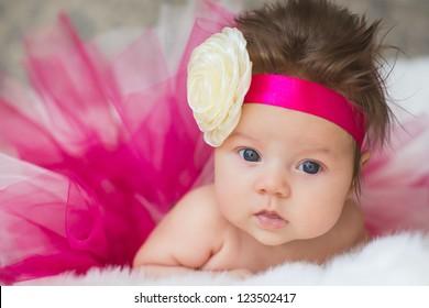Portrait of very sweet little baby girl