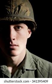 Portrait Of Vietnam War Era U.S. Soldier