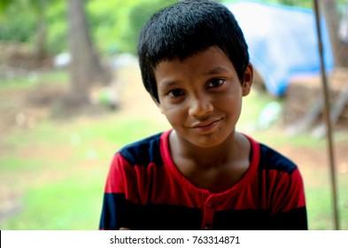 Portrait of a village kid