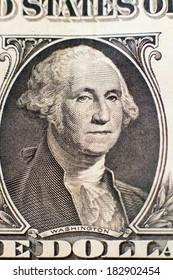 Portrait of Washington on the dollar used as background