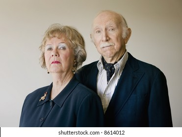 Portrait of Wealthy and Snooty Senior Citizens