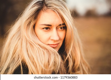 portrait of a white-haired girl with beautiful eyes