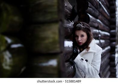 portrait of winter girl
