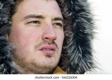 Portrait of a winter man
