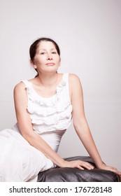 Portrait of a woman aged