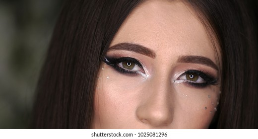 portrait of a woman with beautiful eyes