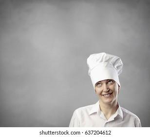 portrait of woman chef