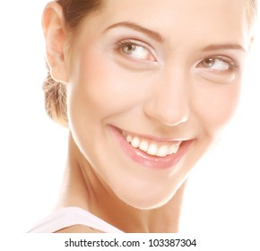 Portrait of a woman, happy smiling