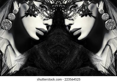 portrait of a woman. Secrecy