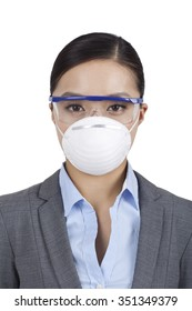 Portrait of a woman wearing a face mask
