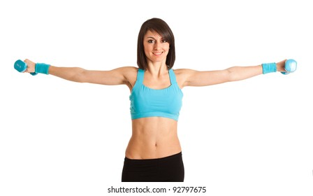 Portrait of a woman working out