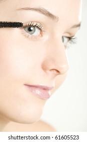portrait of woman's make up