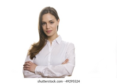 Portrait women business isolated