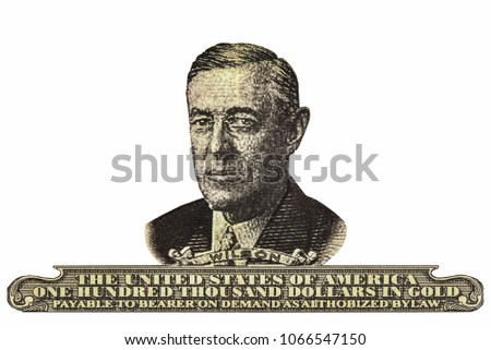 Portrait Woodrow Wilson 28th President United Stock Photo Edit Now
