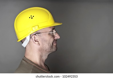 Portrait of a worker with helmet