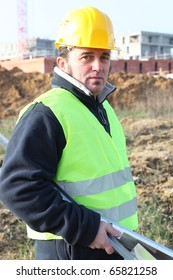 Portrait of a Worker on construction site