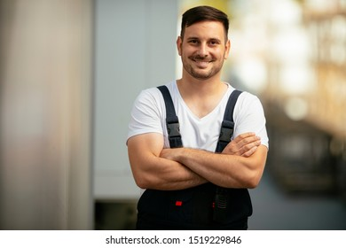 Portrait of worker in uniform