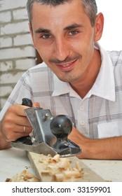 a portrait of a workman