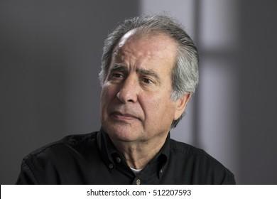Portrait of a  worried senior aged man