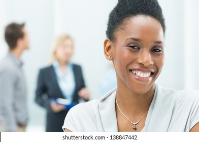 Portrait Of Young African American Businesswoman In Her Office