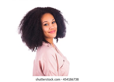 Portrait Of Young African Woman Smiling