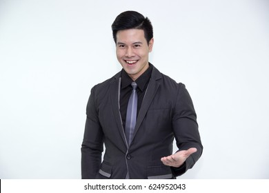 portrait of young asian businessman,