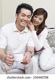 portrait of a young asian couple.