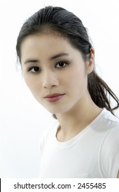 Portrait of a young asian girl