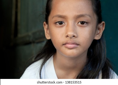Portrait of a young Asian girl from the Philippines.
