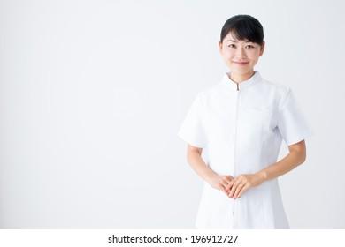 a portrait of young asian nurse