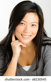 Portrait of young Asian woman