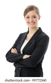 Portrait of a young attractive business woman.