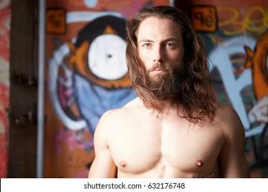 Sensational Beard Long Hair Images Stock Photos Vectors Shutterstock Natural Hairstyles Runnerswayorg