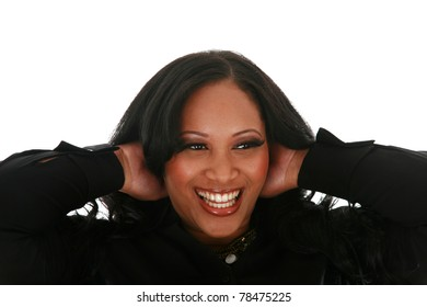 Portrait of a young beautiful african american woman smiling
