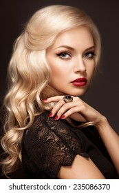 Portrait of young beautiful blonde