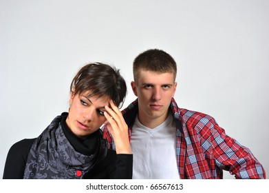 Portrait of a young beautiful couple
