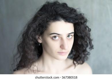 Portrait of young beautiful girl. Fashion photo