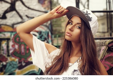 Stylish Cap Girl Posing Images, Stock Photos \u0026 Vectors