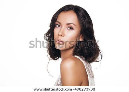 Girl profile nude headphones