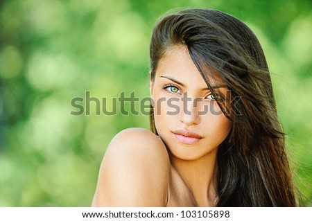 0a78b029ac26f Portrait Young Beautiful Woman Bare Shoulders Stock Photo (Edit Now ...