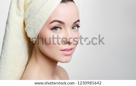 ad809f6f1 Portrait Young Beautiful Woman Healthy Glow Stock Photo (Edit Now ...