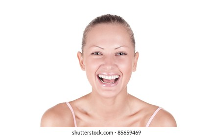 portrait of a young and beautiful woman smiling