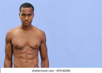 Portrait of Young Black Fitness Guy