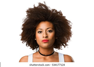 portrait of a young black woman